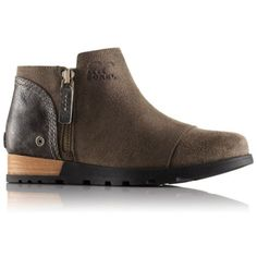 Women's Sorel Major Low Casual Boots Black-Wet Sand *New* #Sorel #Boots  -  good brand and quality.  low, ankle boot, suede with leather back, zip up, interesting sole.   lj