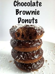 Chocolate Brownie Donuts