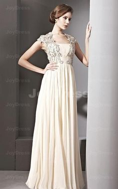Appliques Sleeves A-line Square Floor-length Dress - Joydress.co.uk - 221 - pro - p12c0101202