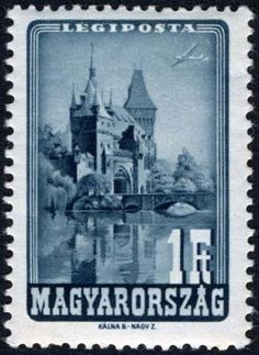 Sello: Vajdahunyad Castle, Budapest (Hungría) (Places of Interest) Mi:HU 951 Liberty Bridge, Palace Hotel, Places Of Interest, The Republic, Budapest, Cathedral, Tower, Loyalty, Stamps