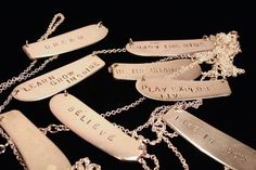 Butter Knife Pendants from Girl Ran Away with the Spoon