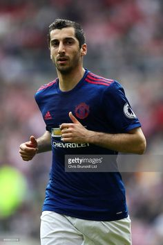 Henrik Mkhitaryan of Manchester United looks on during the Premier League match between Sunderland and Manchester United at Stadium of Light on April 2017 in Sunderland, England. Sunderland England, Manchester United Premier League, Premier League Matches, That Look, The Unit, Sports, Soccer, Hs Sports, Sport