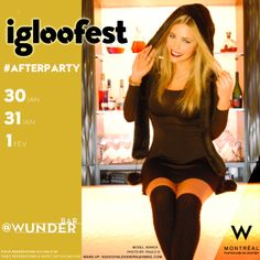 Préparez-vous à faire la fête avec nous! #igloofest #afterparty @Katharina MTL @Wmontreal #nightlife #montreal #winter Réservation: 514 395 3195