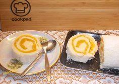 Narancszselés puding tekercs recept foto Izu, Panna Cotta, Puding, Ethnic Recipes, Food, Dulce De Leche, Essen, Meals, Yemek