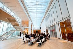 ceremony in modern wing at art institute of chicago