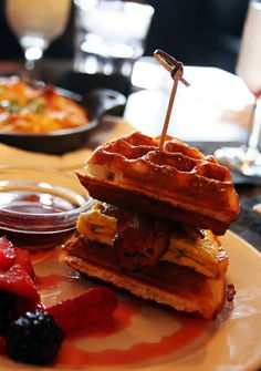 The Waffle Sandwich at The Passenger on Bitches Who Brunch {www.BitchesWhoBrunch.com}