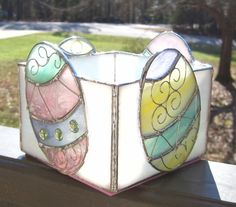 Easter Eggs Candle Holder Stained Glass Spring by hobbymakers
