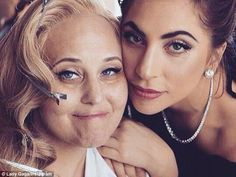 Loving: Gaga shared a beautiful photo of the two...
