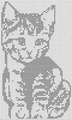 Схемы котов для вязания и вышивки Cat Cross Stitches, Funny Cross Stitch Patterns, Cross Stitch Designs, Filet Crochet, Crochet Chart, Beaded Cross Stitch, Cross Stitch Embroidery, Cross Stitching, Owl Crochet Patterns