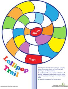 Great candy themed idea for a Guitar or piano practice chart: Lollipop Trail Game // Could make a good tracker for a longer term practice incentive too! Piano Practice Chart, Candy Theme Classroom, Piano Teaching, Learning Piano, Educational Board Games, Printable Board Games, Free Printable, Goal Charts, Preschool Games