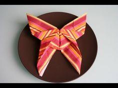 Servietten falten: Schmetterling - einfache Osterdeko selber machen - YouTube