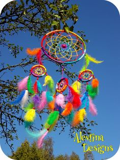 my handmade rainbow dreamcatcher радужный ловец снов