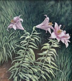 Lillium, original oil on canvas by Lewis Bryden | R. Michelson Galleries