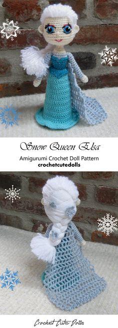 Amigurumi Crochet Doll Pattern & Tutorial for the Disney Snow Queen Elsa from Frozen by Crochet Cute Dolls