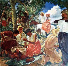 Recogedoras de Café (1946) Tito Salas (Venezuela, 1887-1974)