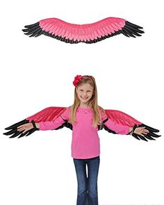 Childs Kids Pink Flamingo Bird Wings Costume Accessory - Standard Size from BlockBuster Costumes at SHOP. Dance Costumes, Cosplay Costumes, Halloween Costumes, Pink Flamingos Birds, Flamingo Bird, Bird Wings Costume, Fancy Dress, Dress Up, Kids Christmas Outfits