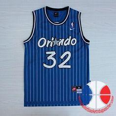 maillot de basket pas cher Orlando Magic O'Neal #32 Bleu mesh tissu