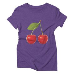 cherries womens triblend-t-shirt in tri-purple