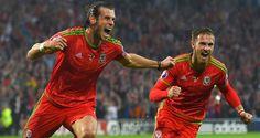 Gareth Bale: Celebrates scoring the winning goal v's Belgium to edge closer to Euro 2016