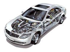 2006-2010 Mercedes-Benz CL 600 (C216) - Illustration unattributed