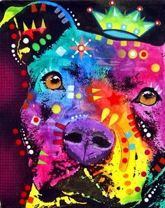 pitbull art | ... The Thoughtful Pitbull Crowned Fine Art Prints and Posters for Sale