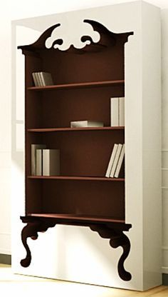 Modern Victorian Bookcase by The Office Stylist Funky Furniture, Cheap Furniture, Furniture Design, Furniture Stores, Furniture Ideas, Victorian Bookcases, Home Interior, Interior Design, Style Deco
