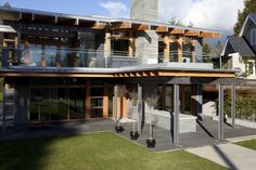 Home Design Architecture. Modern Architecture Home Design Ideas. Modern Home Architecture Design Ideas Come With Gray Steel And Wooden Frames And Ventilated Home Roofing And T Shaped Home Patio Along With Concrete Tiles Patio Divider Also Gray Tiled Outdoor Floors And Balcony With Metal Framed Clear Glass Fence As Well As Minimalist Home Landscaping. Modern Architecture Homes