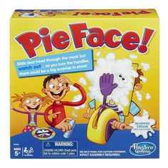 Pie Face is fantastically exciting and fun-filled game! Just load the throwing arm with delicious squirty cream or even a wet sponge and wait for the tension to build!
