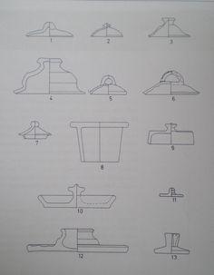 Archaeologist drawings of Medieval pot lids. German deckel.jpg (1792×2305)