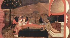 'Deux anges et deux diables', 1469 de Paolo Uccello (1397-1475, Italy)