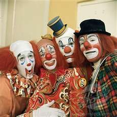 Classic clowns. I don't understand why people make them out to be evil... They just want to make people laugh!
