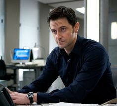 Another one of Richard Armitage in the purple shirt from Spooks/MI-5. These never get old.... (At least, not for me!)