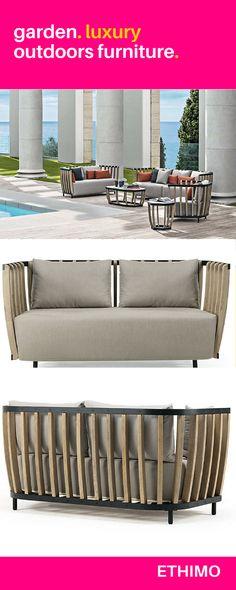 ETHIMO Knit Esstisch 200 Mahagony bei Villatmode Gartenmöbel - lounge gartenmobel mit esstisch