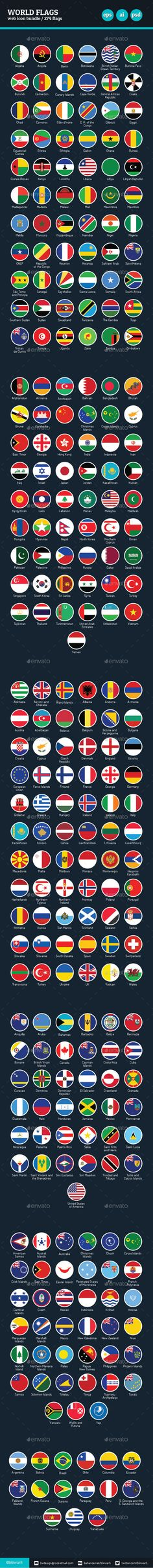 Flags of the World - Vector Icon Bundle