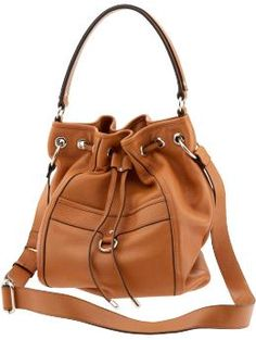 Rivington leather drawstring tote in just the right size