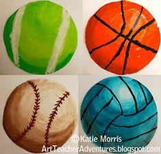 Adventures of an Art Teacher: Sports Spheres  http://artteacheradventures.blogspot.com/2012/05/sports-spheres.html