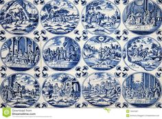 Antique Delft Wall Tiles - Download From Over 27 Million High Quality Stock Photos, Images, Vectors. Sign up for FREE today. Image: 18945387