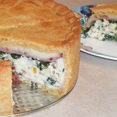 Torta Rustica Allrecipes.com..nice, room temp, and cheese...