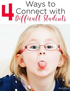 Connecting with difficult students can be tricky, but these 4 tips are sure to help any classroom teacher! Classroom Management Styles, Behavior Management Strategies, Class Management, Creative Teaching, Teaching Resources, Teaching Ideas, Teaching First Grade, Elementary Teaching, Upper Elementary