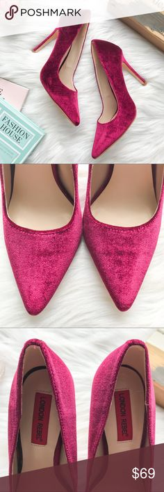 LONDON REBEL Velvet Classic Pumps Burgundy 38/7.5 Brand: London Rebel. Color: Burgundy. Size: 38/US7.5. Condition: Preowned, shows signs of wear. Please view all photos before purchasing. Thank you! ASOS Shoes Heels