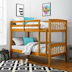 b5f0c83d4bb Harriet Bee Minehead Twin over Twin Bunk Bed Bed Frame Color  Pine