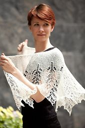 Ravelry: Grace Kelly Luxurious Beaded Shawl pattern by Susanna IC in Manos