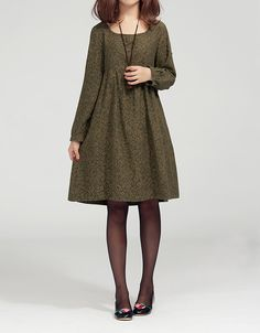 Lovely doll long sleeved tunic dress gown/ yellow by MaLieb, $80.00