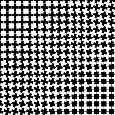 Crosses III (2015) - Dennis Smit. More on www.schmitzl.nl. #opart #optical #opticalart #abstractart #abstract #art #geometric #geometricart #blackandwhite #black #white