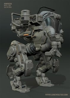 concept robots: HAWKEN mechs by Yaron Levi