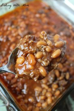 Best Baked Beans for picnics or gatherings. Great for Memorial Day or 4th of July