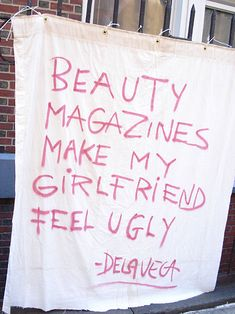 Fashion magazines set up unrealistic beauty standards that manipulated the values of the society. @Robin Katherine Roth RothzRoom