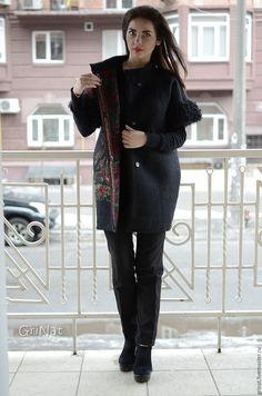 """Купить Валяное пальто""""Виктория"""" - черный, Пальто ручной работы, ручная авторская работа"""