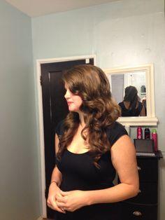 Glamourous waves. Bridal Hair. Vintage hair. Waves. Roller set.