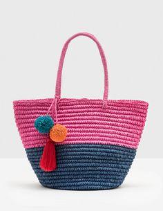 Donna Beach Bag (Mid Pink)